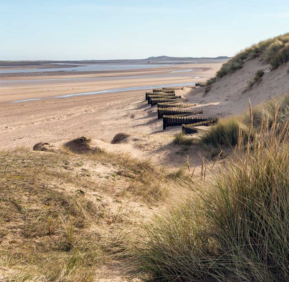 The lovely expanse of the beach at Brancaster