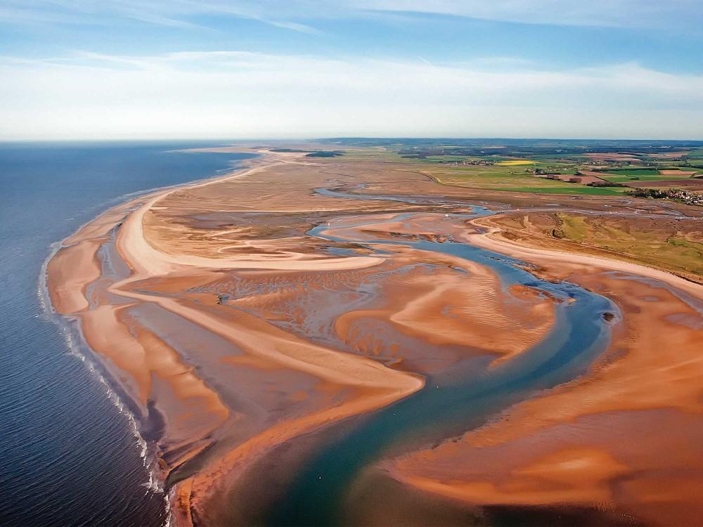 Brancaster beach aerial