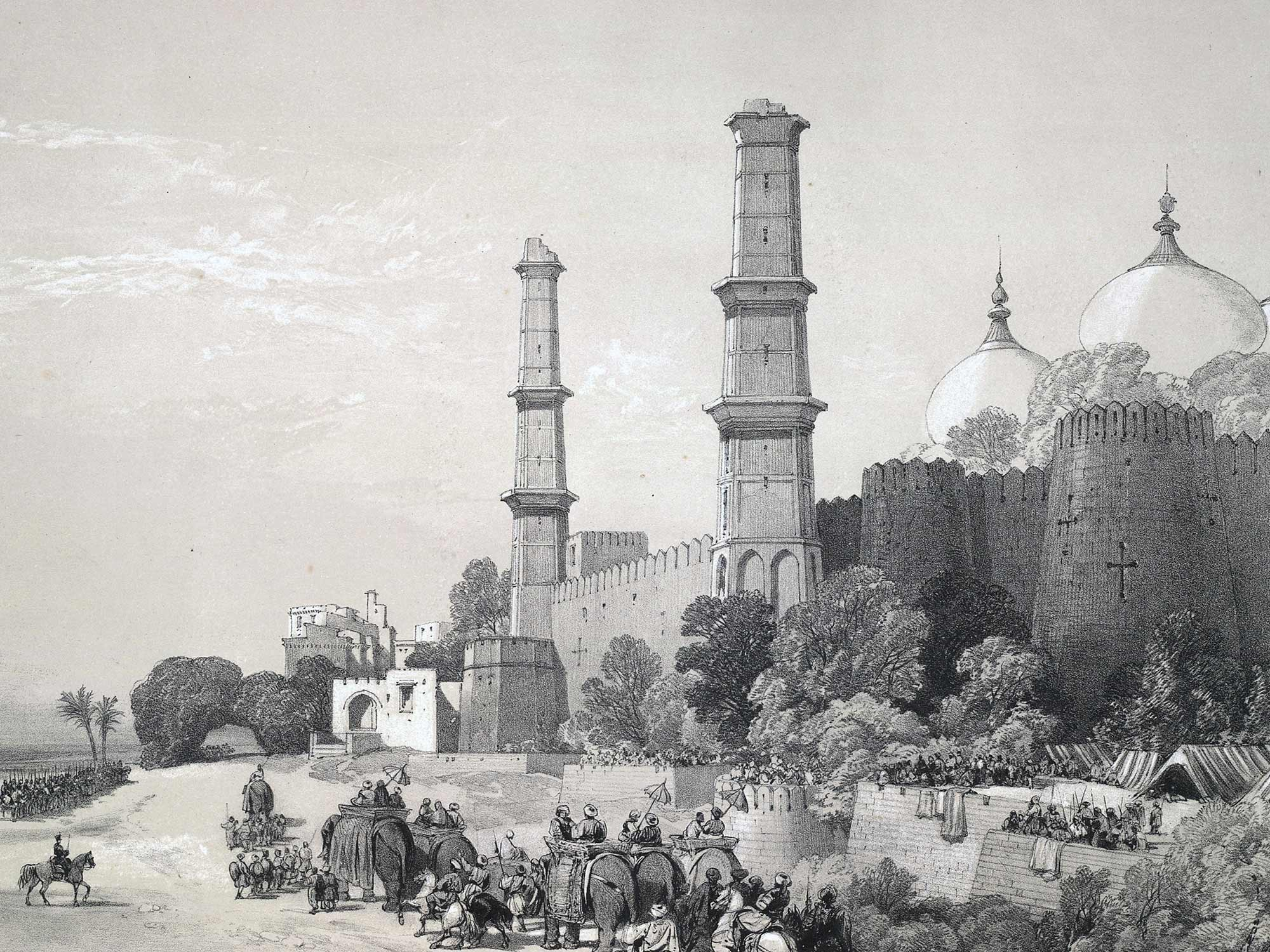 Maharaja Duleep Singh enters his palace in Lahore, India in 1846 escorted by British troops