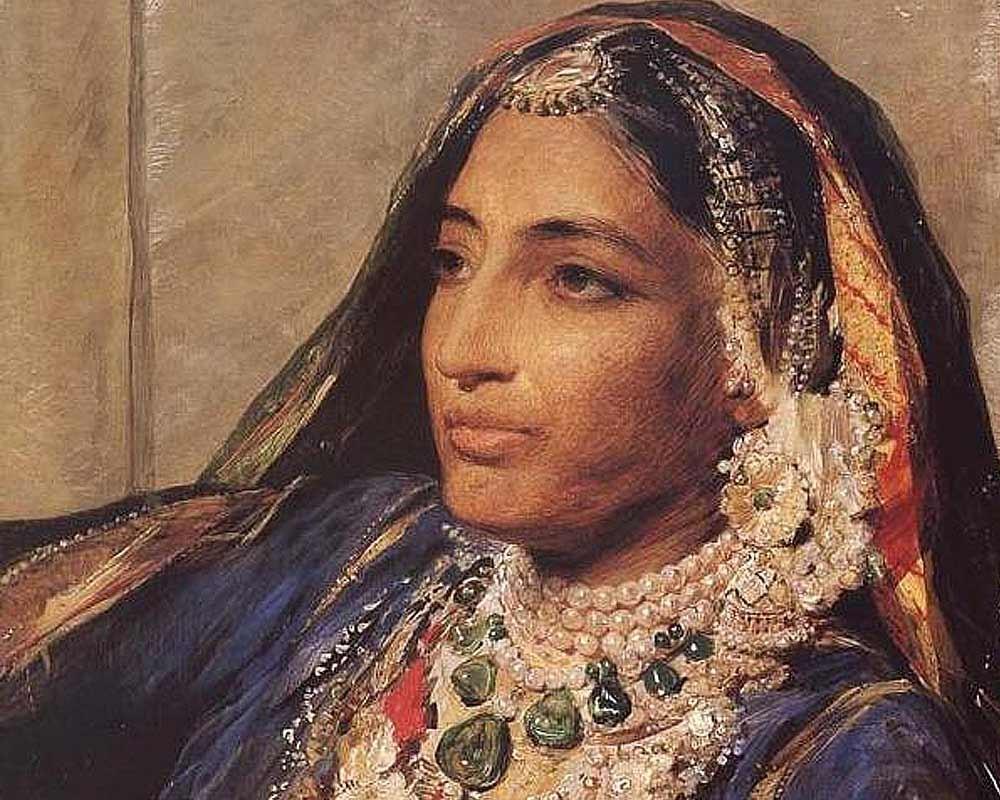 George Richmond's portrait of Duleep's mother Maharani Jind Kaur