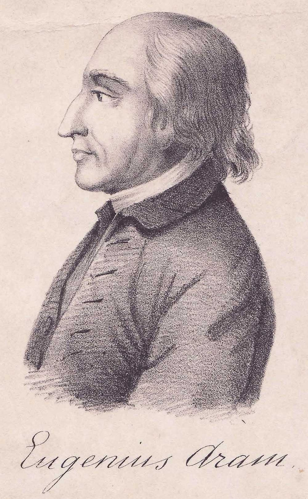 A contemporary engraving of the academic, teacher and murderer Eugene Aram