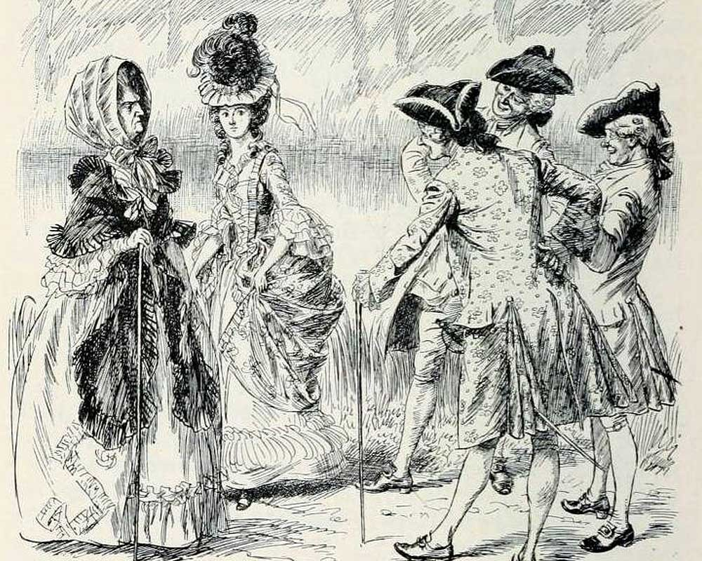 A illustration from one of Fanny Burney's novels