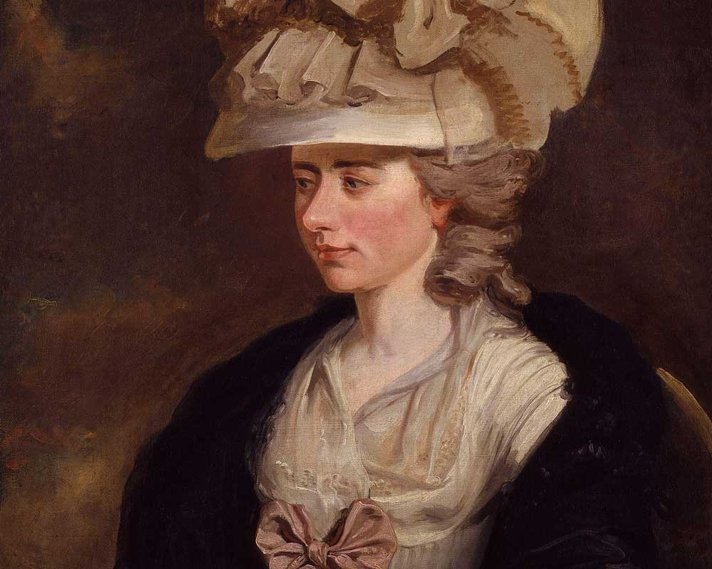 A painting of Fanny Burney by her cousin Edward Francisco Burney