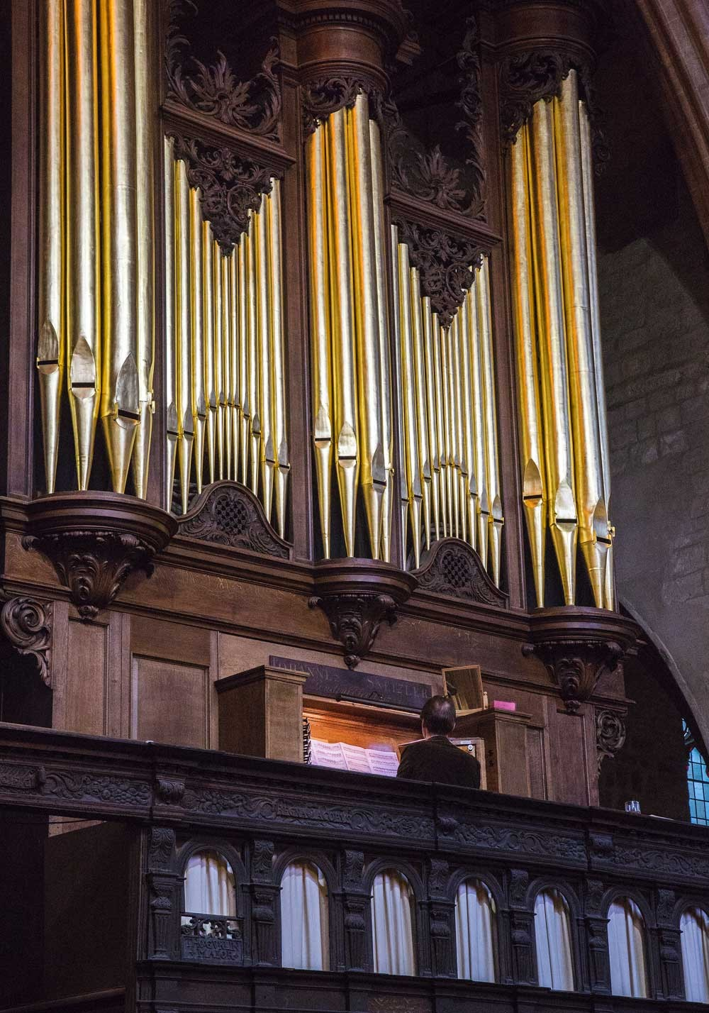 The famous Snetzler organ at The Minster in King's Lynn
