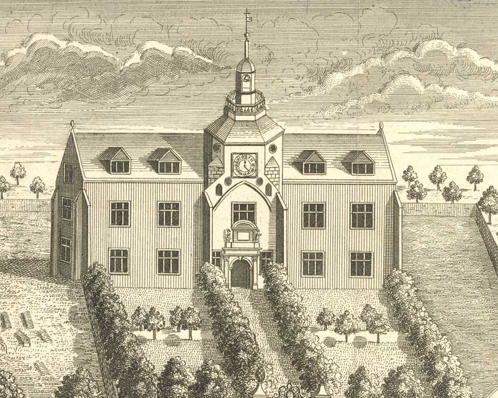An early sketch of St James Workhouse in King's Lynn