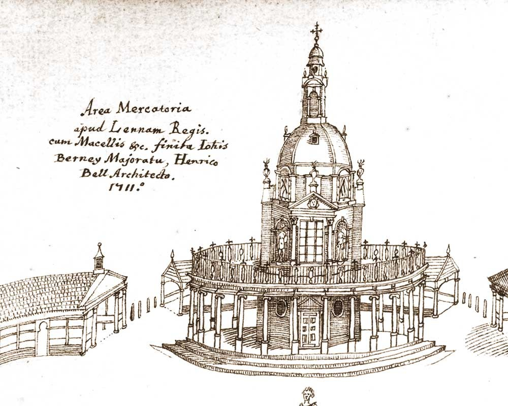 Henry Bell's plans for the market cross which once stood on the Tuesday Market Place in King's Lynn