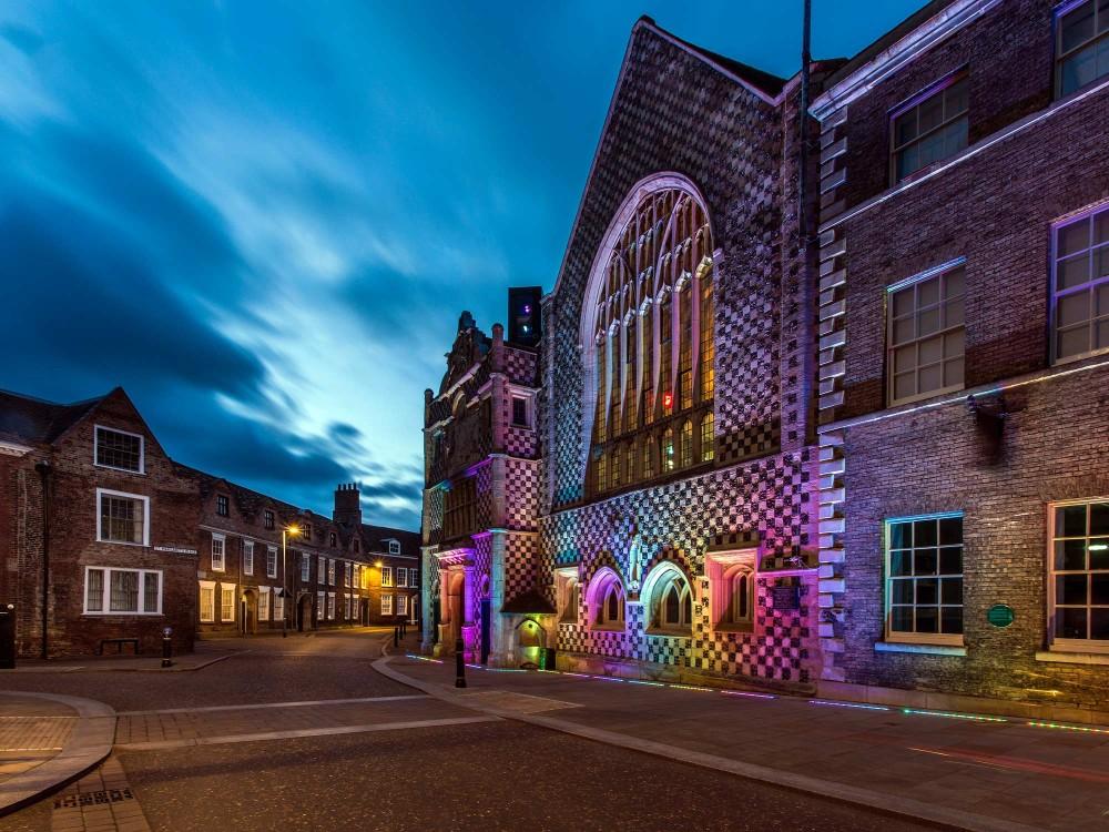 King's Lynn Town hall at night