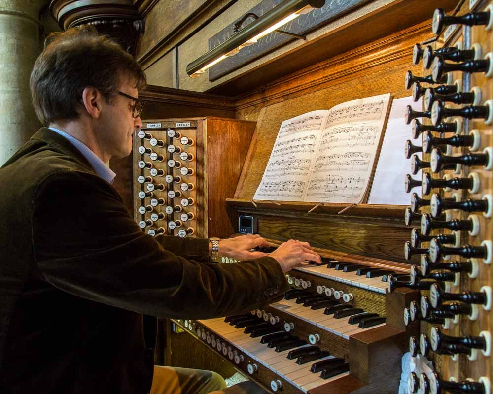 The organ inside the King's Lynn Minster