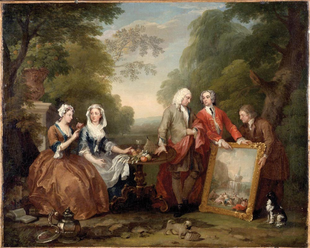 Portrait of Sir Andrew Fountaine with other men and women by William Hogarth  c. 1730-1735. © The John Howard McFadden Collection, 1928/Philadelphia Museum of Art