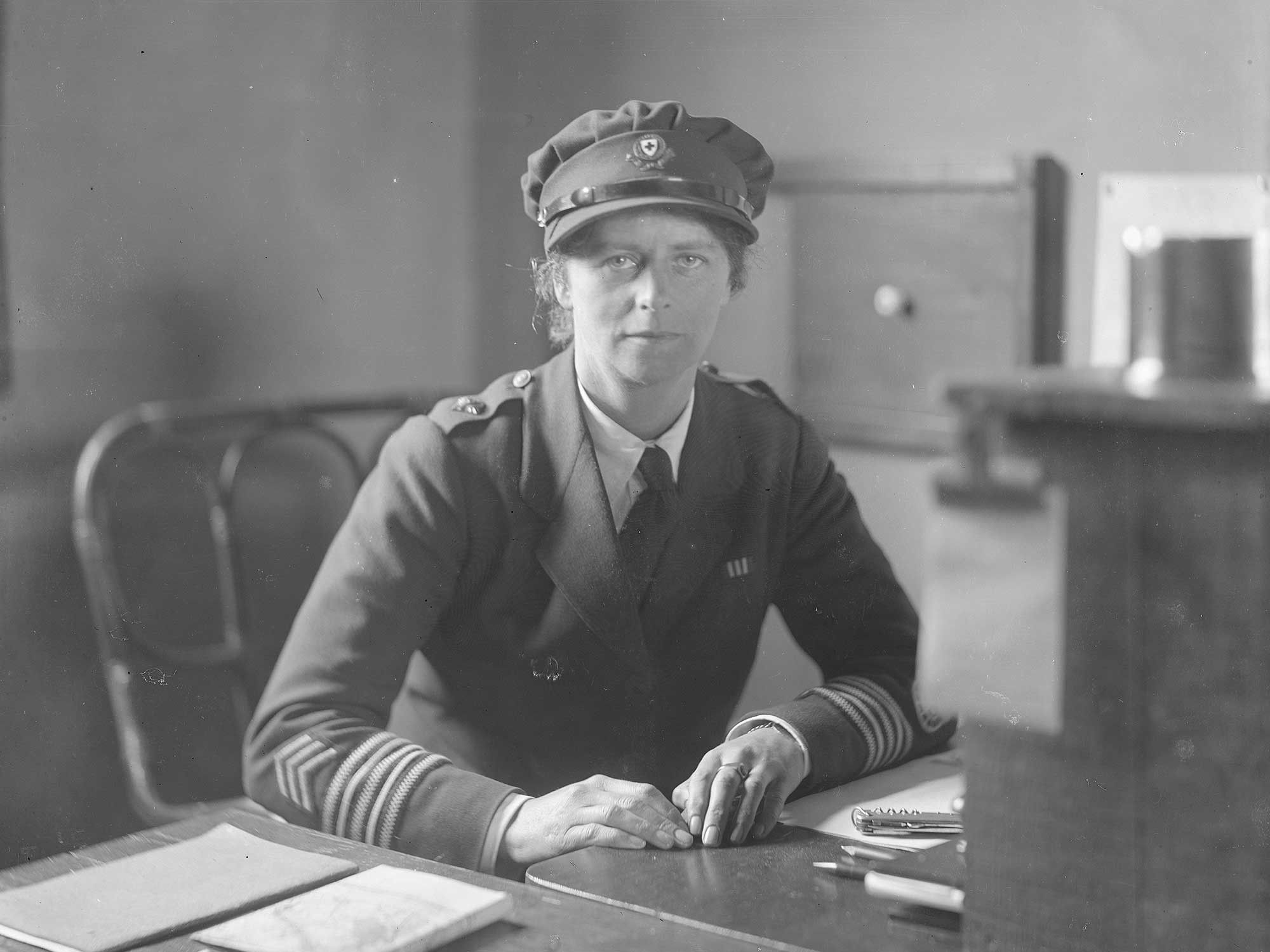 In 1919 Olive Edis took this portrait of Miss Mellor, Ambulance Convoy Commandant at Etaples in France