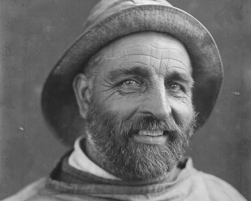 An undated portrait of Norfolk fisherman 'Lotion Tar' Bishop by Olive Edis