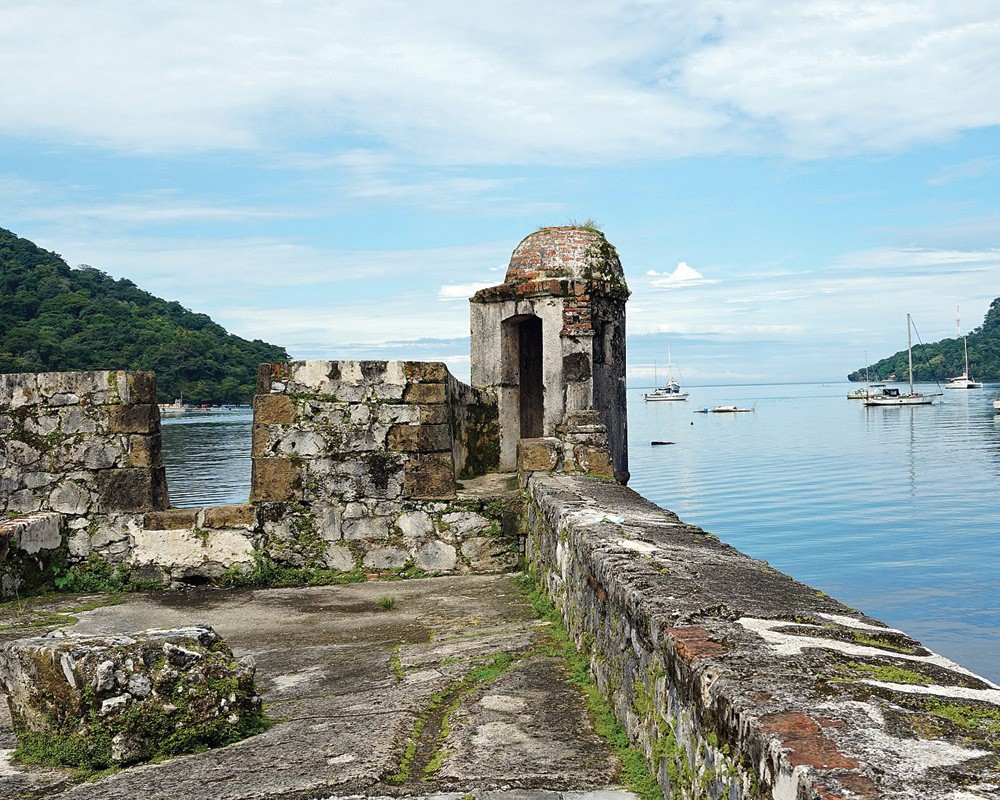 The ruins of the fortress at Portobelo