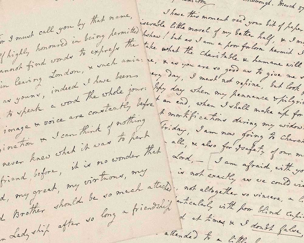 A letter from William Nelson to Emma Hamilton
