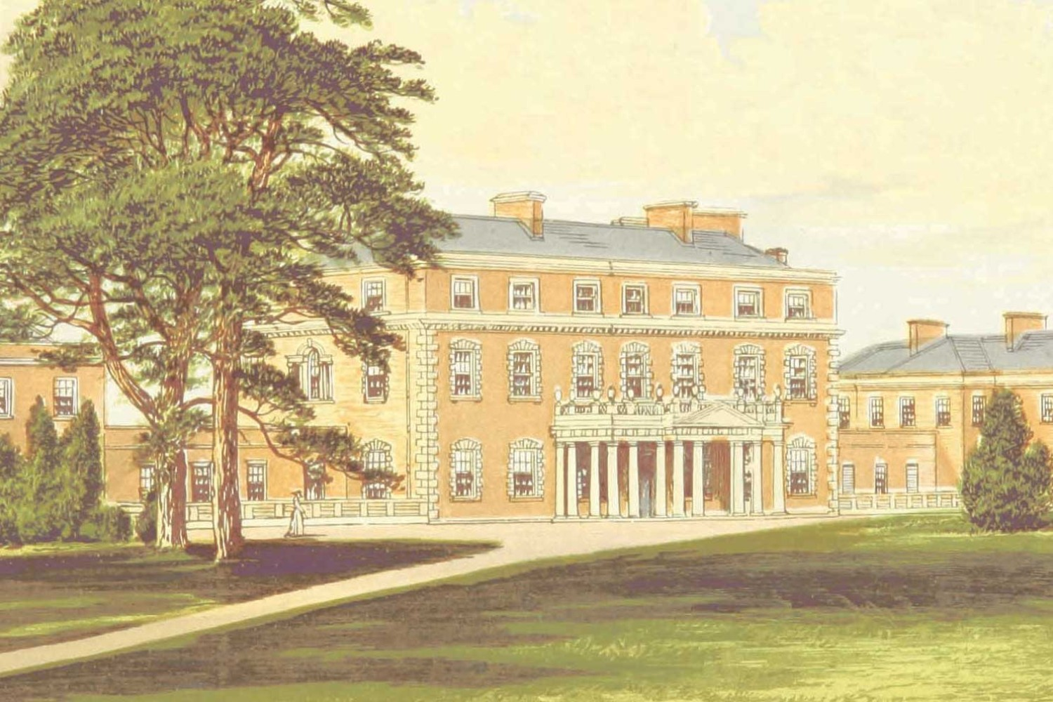 An 1879 painting of William Nelson's home