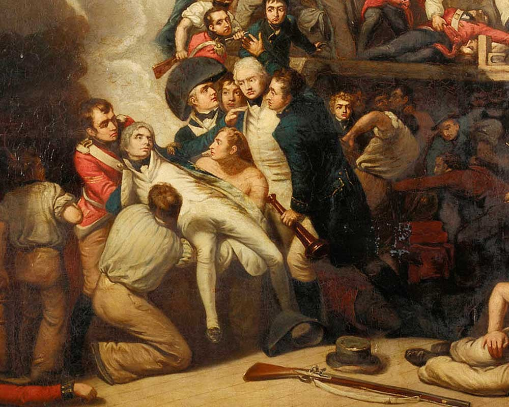 The death of Nelson at the Battle of Trafalgar in 1805