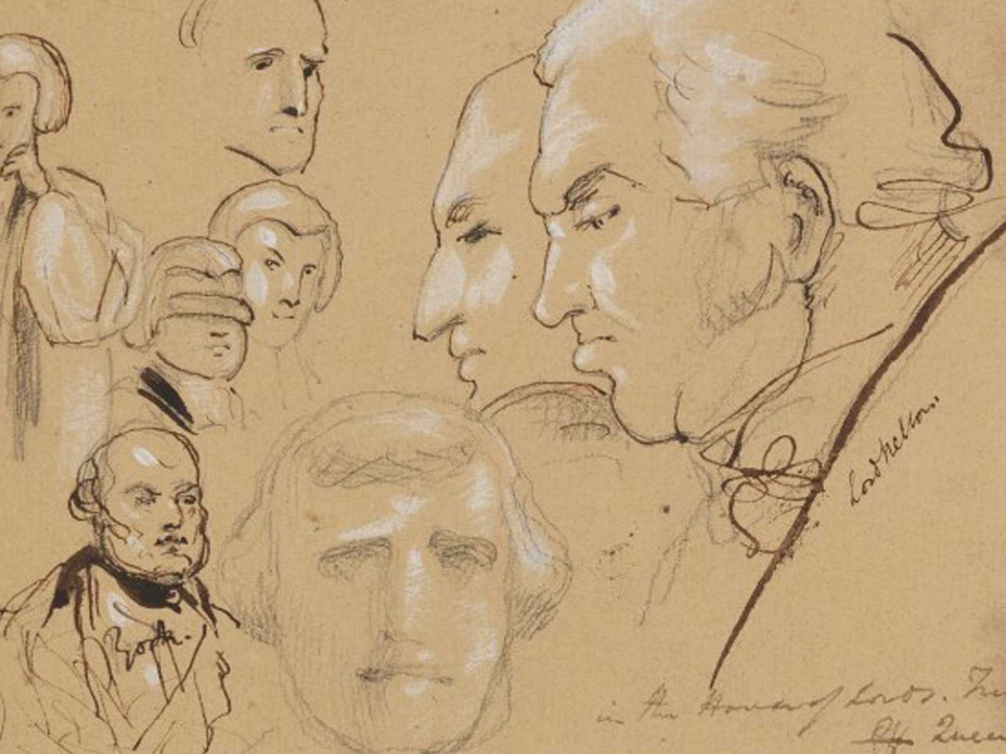 A rare pencil sketch of William Nelson