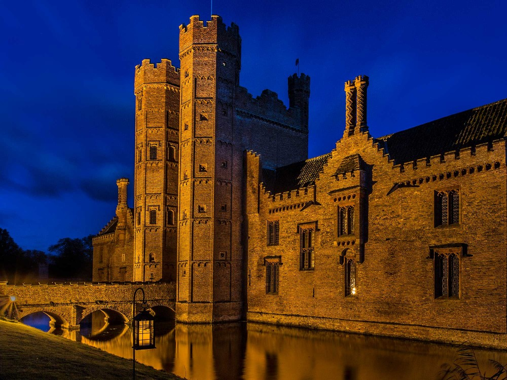 Oxburgh Hall Exterior Night Time