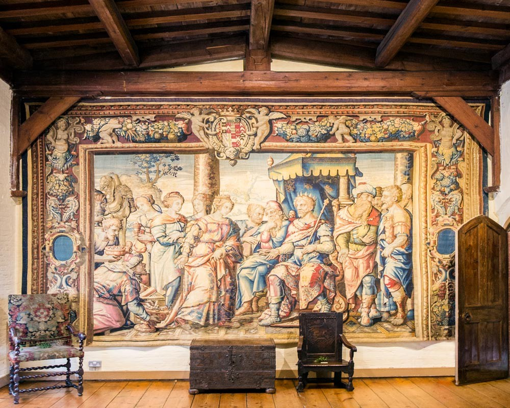 Oxburgh Hall Interior Tapestry