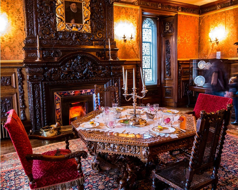 Oxburgh Hall Interior Dining Room