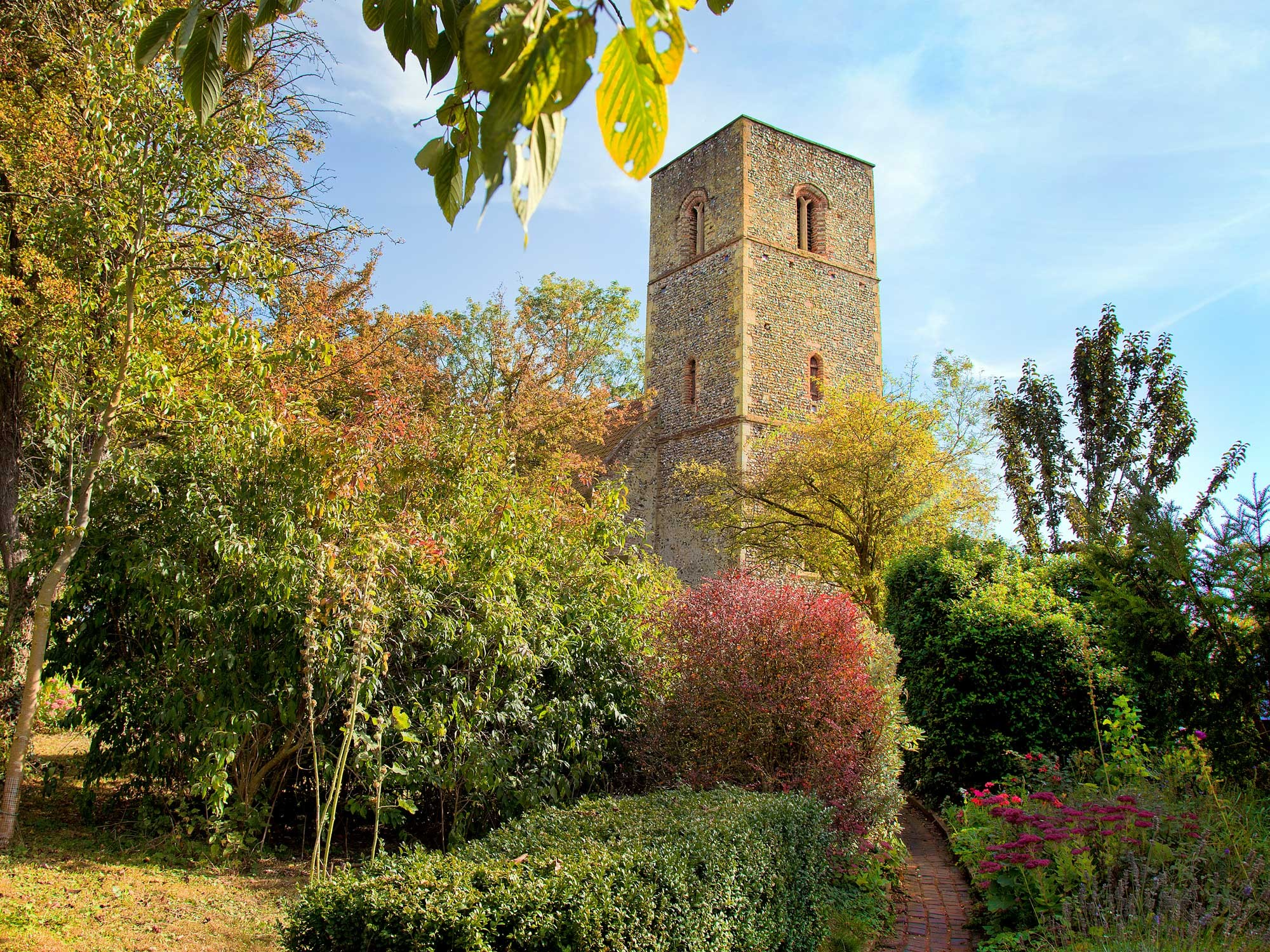 The restored church of St Mary at Houghton-on-the-Hill