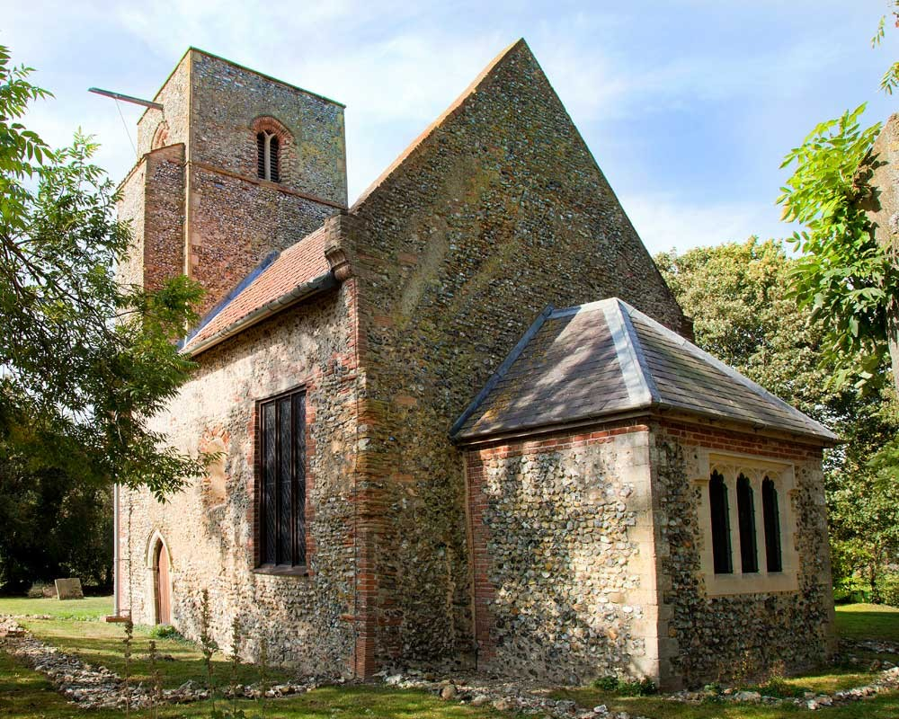The charming and lovingly restored church of St Mary at Houghton-on-the-Hill