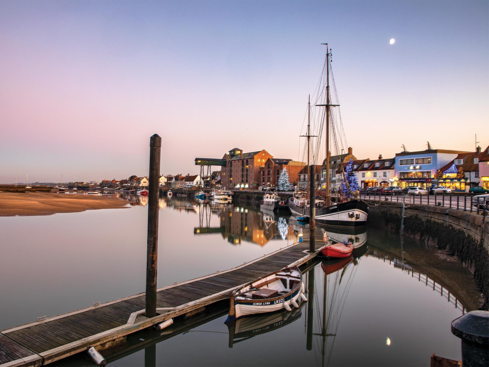 Wells-next-the-sea harbour at Christmas