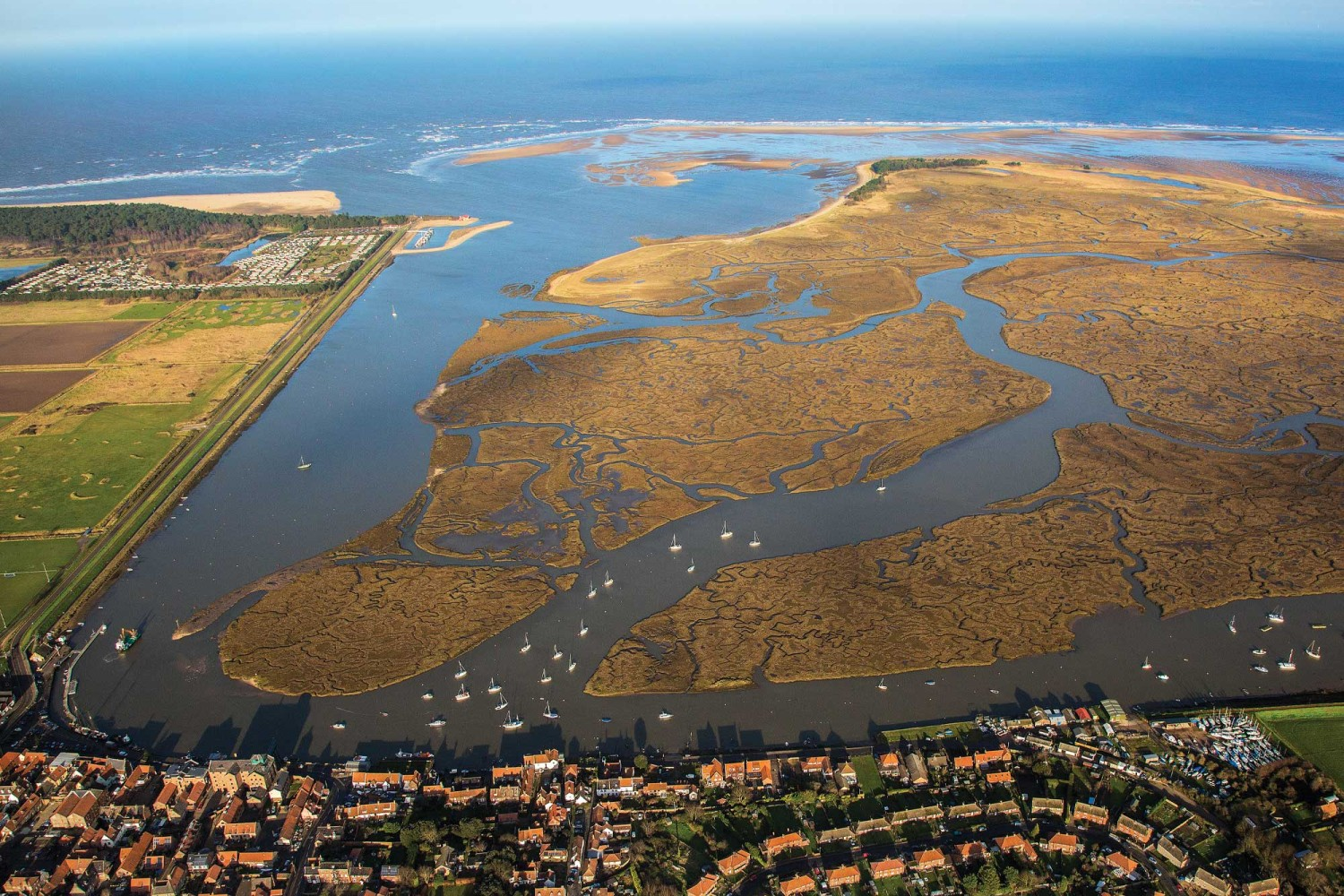 Wells-next-the-sea aerial view