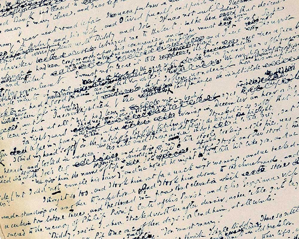 Charles Dickens' handwritten manuscript in the Weisbech and Fenland Museum