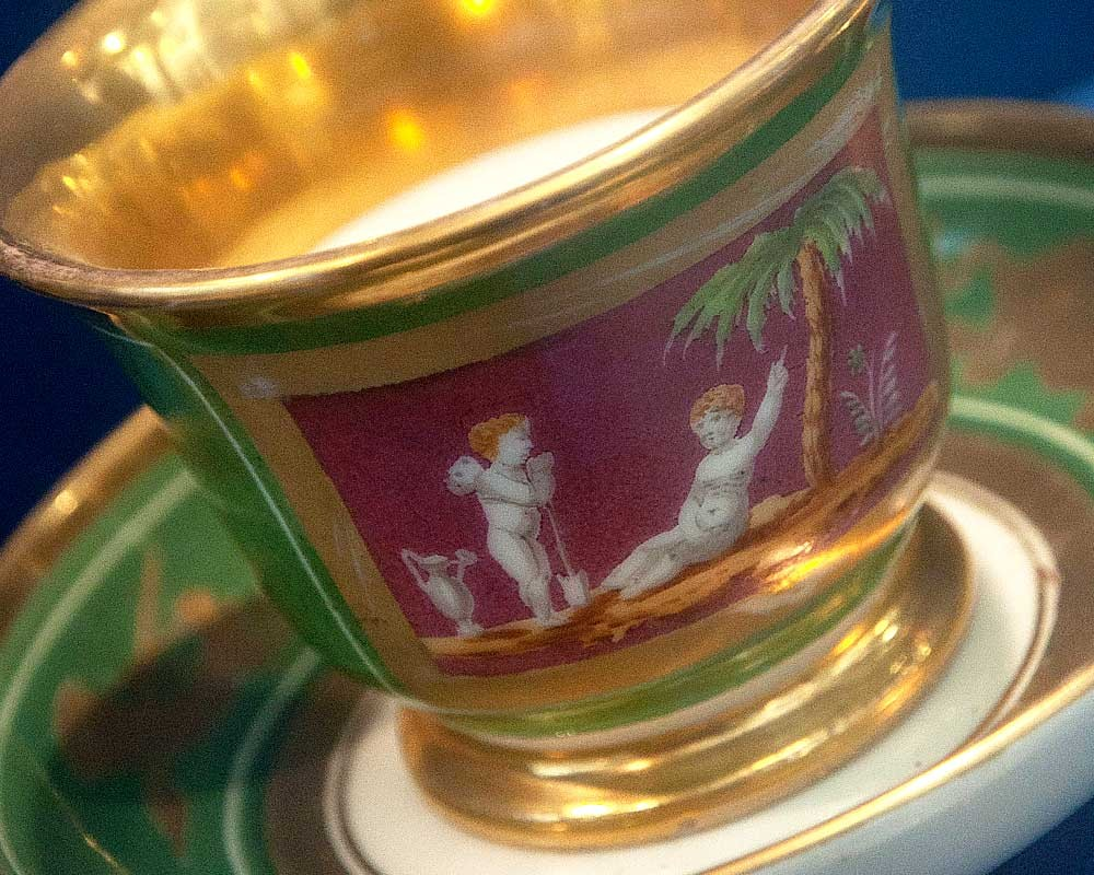 A cup from Napoleon's tea service in the Wisbech and Fenland Museum